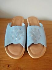 FLY FLOT BLUE SUEDE MULES/ SANDALS SIZE 6 NNT