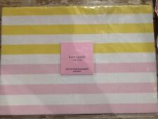 Kate Spade Yellow White Pink Striped Vinyl Springtime Set of 4 Placemats New NWT