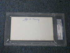 Zeb Terry Autographed Index Card PSA DNA