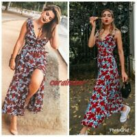 ZARA NEW FLORAL PRINTED FLOWING LONG DRESS SIZE XS