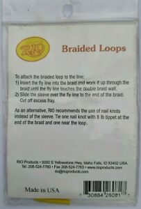 RIO BRAIDED LOOPS for Lines # 7-12.  Camo colors, Size - Large, 4 loops in Pack