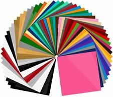 Permanent Vinyl Sheets Pack Of 60 12 X 12 Includes Squeegee Bundle