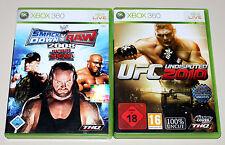 2 xbox 360 jeux Bundle ufc invincible 2010 & smackdown vs raw 2008-le catch