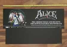 Alice Madness Returns / Street Fighter Store Display Promo Marketing Sign 2011