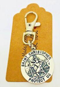 St Christopher travellers swivel keyring,New driver talisman Teacher gift