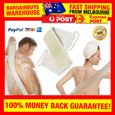 Exfoliating Loofah Sponge Back Cleaner Strap Back Cleaning Scrubber