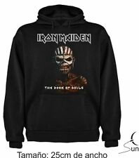 SUDADERA 120 IRON MAIDEN BOOK OF SOULS MUSICA ROCK HEAVY HOODIE MUSIC SIL Mi002s