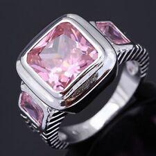 18K Gold Filled Rare Fashion Rings Fashion Size 11 Men Womens Pink Sapphire