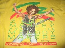 """1988 ZIGGY MARLEY & MELODY MAKERS """"Conscious Party"""" Concert Tour (XL) T-Shirt"""