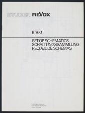 ORIGINAL STUDER / REVOX B 760 Collecte De Circuit / Set de Schematic/diagram