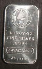 ENGELHARD PORTRAIT 1 OZ .999+ SILVER BAR   ID-EI-10V    SN=FD19195 LOT 030103