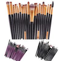 20pcs Eyeshadow/Concealer/Eyeliner/Blending/Eyebrow Eye Lip Cosmetic Brush Set
