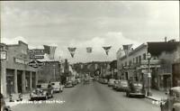 Kent WA Street Scene Cars Signs Real Photo Postcard