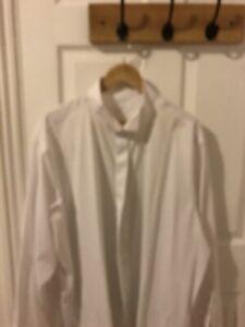 "Rocola Mens White Dress Shirt  19 1/2"" (50cm)"