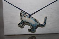 Katze Porzellan Handgemalt Anhänger