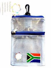 The Golf Pouch, South African Flag, Clear See Through Pouch for Golf Accessories