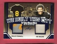 JOE GREENE WILLIE STARGELL GAME USED JERSEY CARD #d5/30 PITTSBURGH STEELERS LEAF