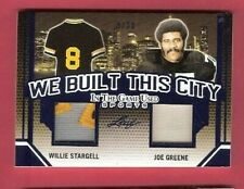 JOE GREENE WILLIE STARGELL GAME USED JERSEY CARD #d5/30 PITTSBURGH STEELERS LEAF