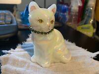 Fenton Cat Glass Hand Painted