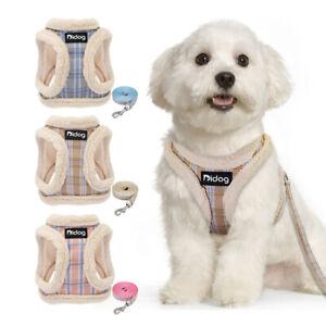 Soft Pet Dog Harnesses and Leads Set Small Medium Dogs Fleece Walking Vest Leash