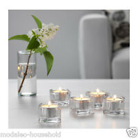 IKEA GLASIG 5 Pack Tea light holder Clear Glass Christmas Decor Candle Ligh-B786