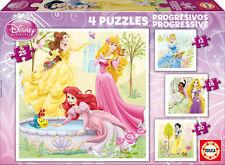 PUZZLE PROGRESIVO 12+16+20+25 PRINCESAS DISNEY EDUCA 15289