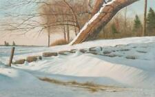 JOSEPH JOHN REBOLI, American (1945-2004), Trees in Winter, oil on can... Lot 236