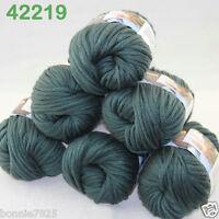 Sale Lot 6ballsx50g Soft Worsted Cotton Chunky Bulky Hand Knitting Shawl Yarn 19
