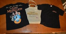 NEW PAIR RARE OF THE LOST MEDALLION T-SHIRTS: YOUTH MEDIUM + FREE MOVIE TOTE BAG