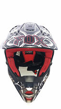 CASCO FOX F7' PRINT NEGRO / ROJO    PARA MOTO CROSS  XL