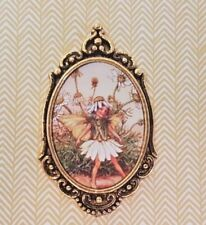 FLOWER FAIRY print framed for 1:12th scale dolls house ornament picture painting