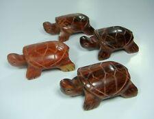 Mini Hand Carved Wood Turtle Auspicious animals Turtles Rosewood set 4