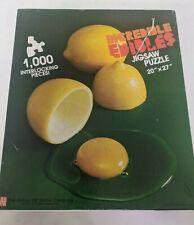 Incredible Edibles: Lemon Egg #1001, 1000 Pc. Puzzle (1986, Avalon Hill)