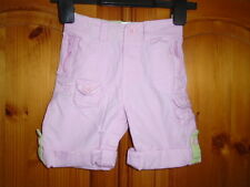 Girls pink good quality cotton shorts with turn ups, BABY GAP, 6-12 months