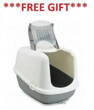 Covered Litter Tray Box XXL XL, Extra Extra Large Cat Toilet, Carbon Filters