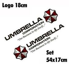 Resident Evil Umbrella Corporation Sticker Auto Aufkleber Set Car Schwarz 75cm