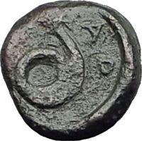 ATARNEOS in MYSIA 4thCenBC Authentic Ancient Greek Coin APOLLO SERPENT i63785