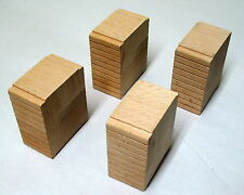 """Thomas & Friends, Wooden, 4- 2 1/2"""" Wooden Learning Curve Risers, EUC"""