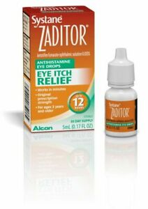 Alcon Systane Zaditor Allergy Eye Itch Relief Drops 5 ml (.17 oz)