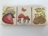 Lot Of 3 Sleeve Box Only For 8 Track Tapes Capitol 1970 Mushroom Strawberry