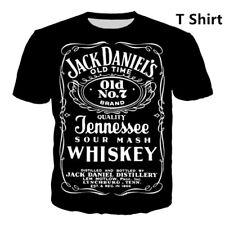 Jack Daniels Whiskey 3D Print Casual T-Shirt New Women Men Short Sleeve Tops