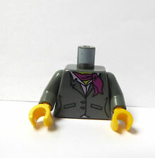 Lego 1 Body Torso For Minifigure Grey Jacket Neck Scarf Research Institute