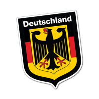 German Shield Deutschland Sticker Flag Bumper Water Proof Vinyl #6833EN