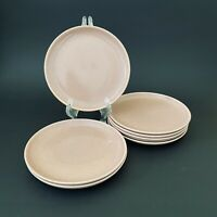 Russel Wright Steubenville American Modern coral pink Bread & Butter Side Plates