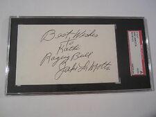 Jake LaMotta Raging Bull Signed Autographed 3x5 Index Card SGC COA BOXING RARE