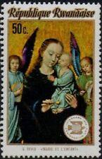 REPUBLIQUE RWANDAISE -1974- Art Painting - Virgin Mary and Child (G. David) #596