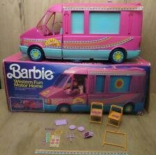 Vintage Mattel 1989 Barbie Western Fun Motor Home Camper Van w/ Original Box !