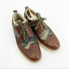 Cole Haan Lunargrand Wingtip Leather Camo Dress Shoe 8 Men's