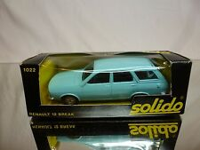 SOLIDO 1022 RENAULT 12 BREAK  - PALE BLUE 1:43 - GOOD CONDITION IN BOX