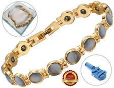 Ladies Health Bracelet Grey Faux Gemstones Bangle Healing Therapy Arthritis Pain